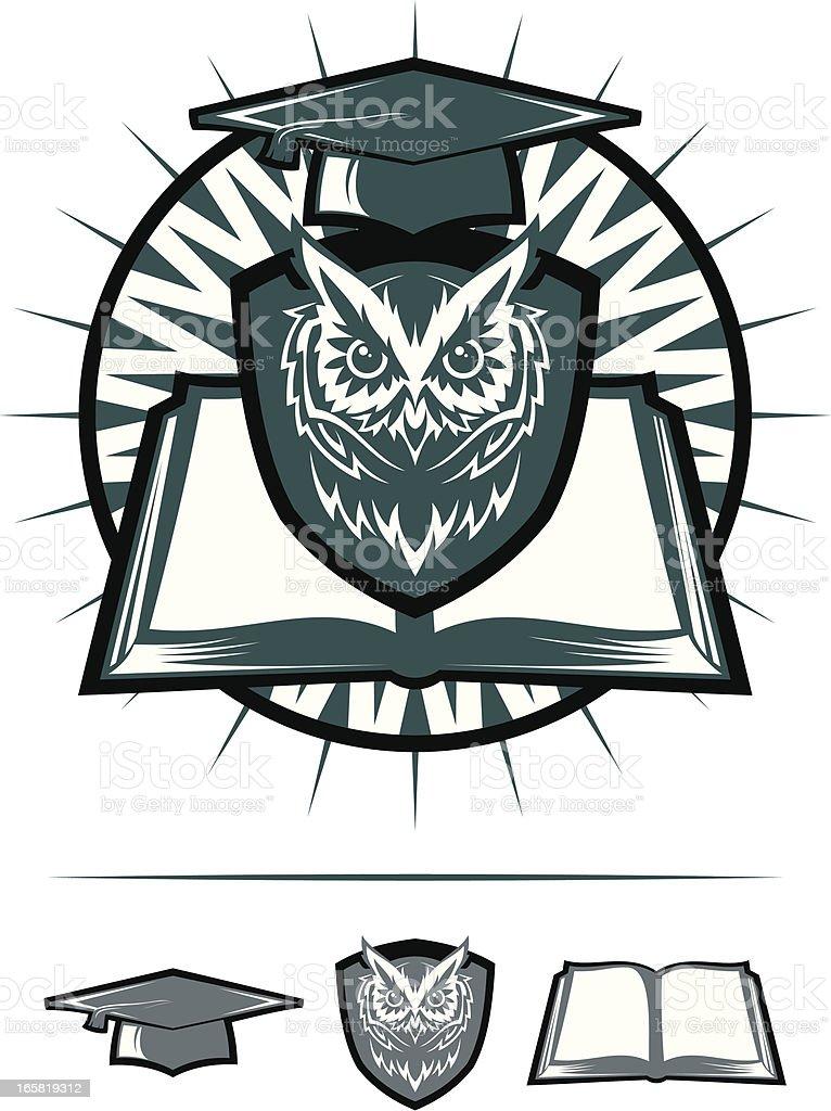 Science emblem royalty-free stock vector art