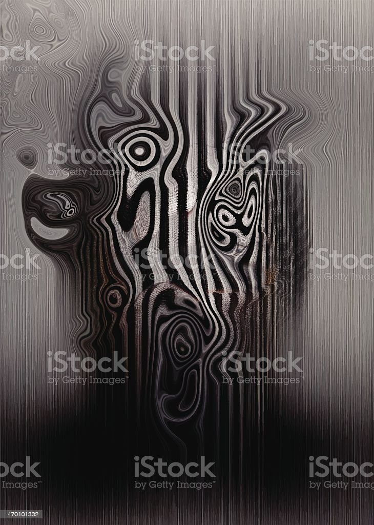 Science Fiction Alien Background Abstract vector art illustration