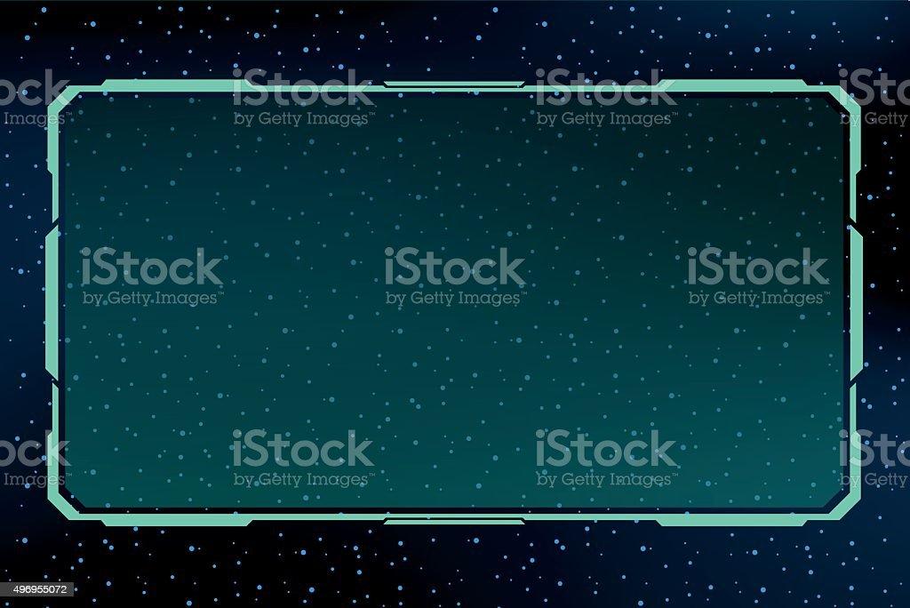 science future border board vector art illustration
