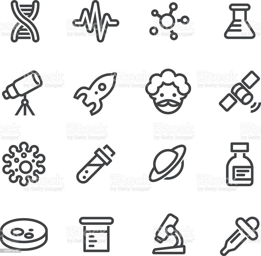 Science Icon - Line Series vector art illustration