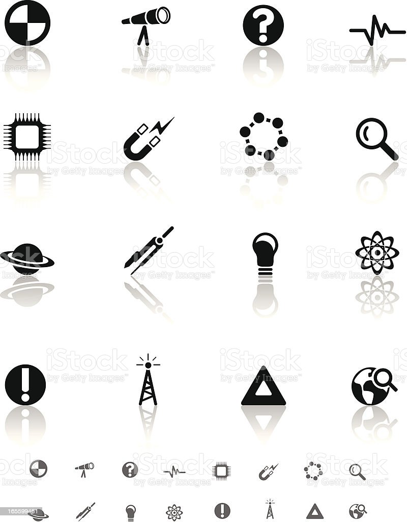 Science Icon set royalty-free stock vector art