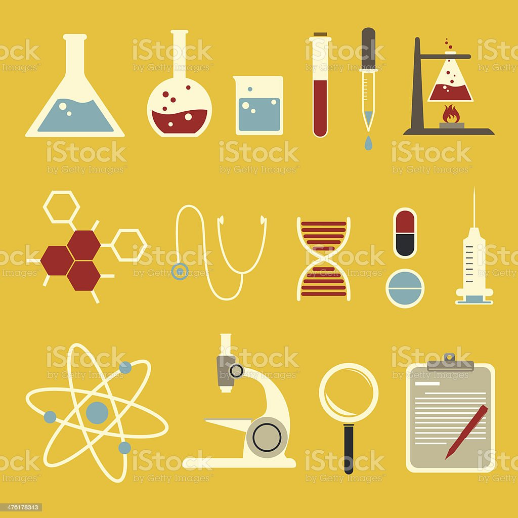 science icon set vector art illustration