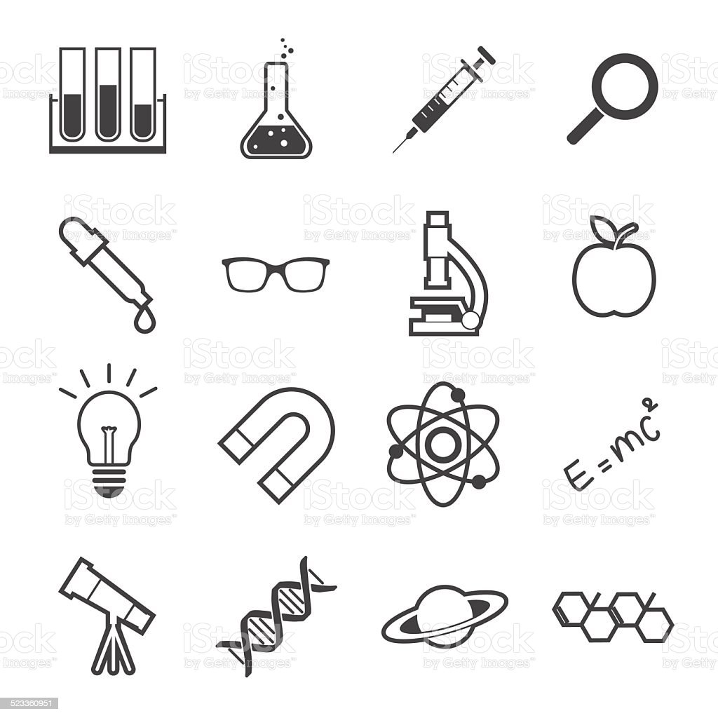 science icon vector art illustration