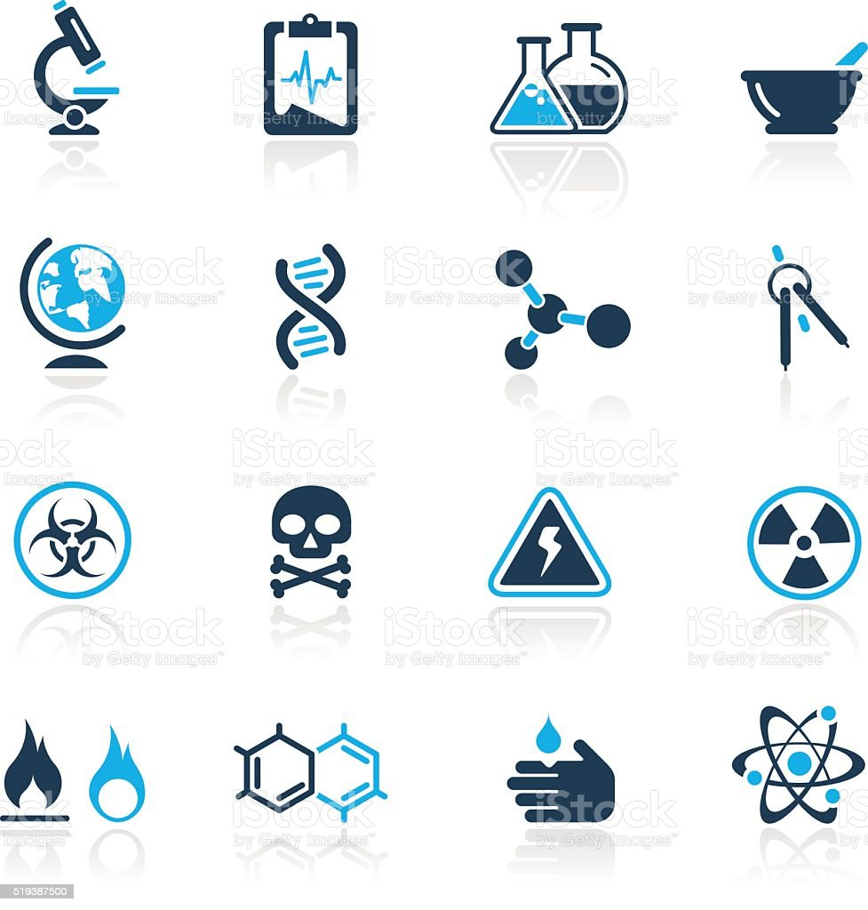 Science Icons // Azure Series vector art illustration