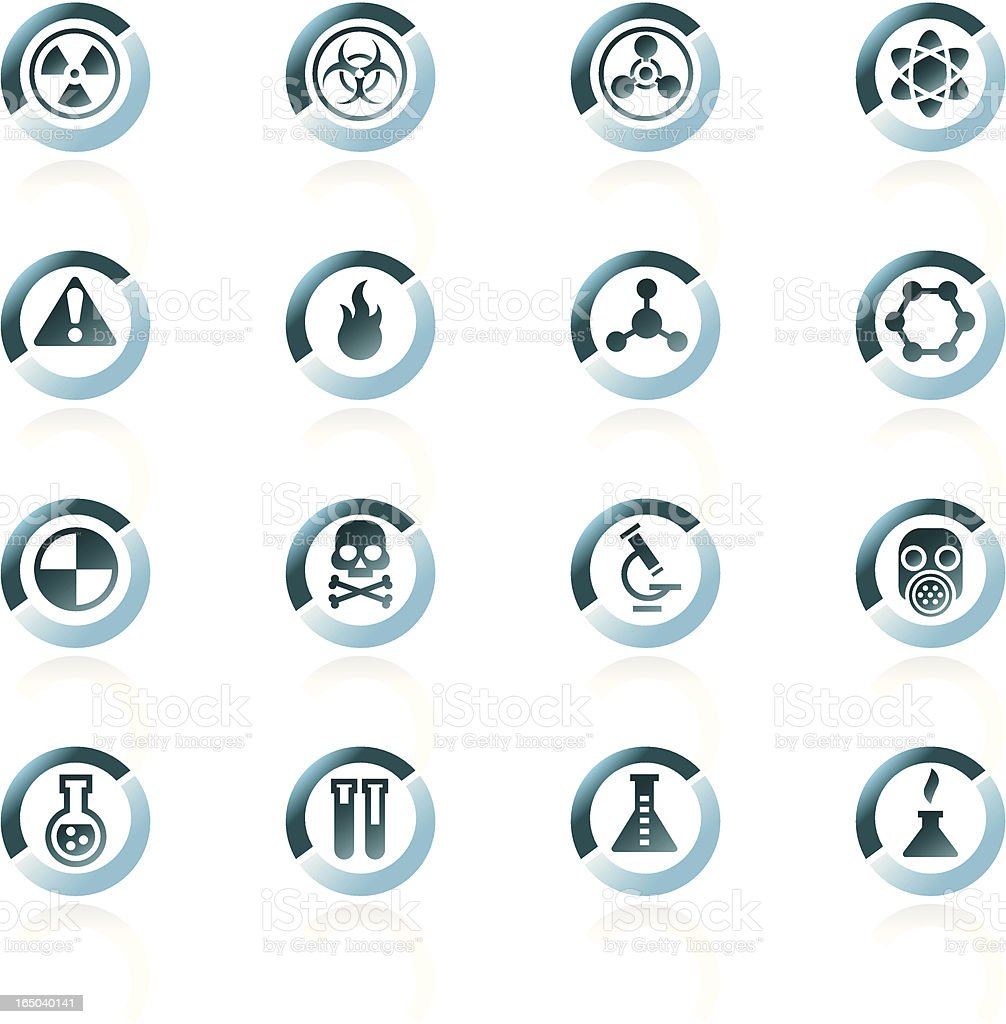 Science Icons - Bluesplit royalty-free stock vector art