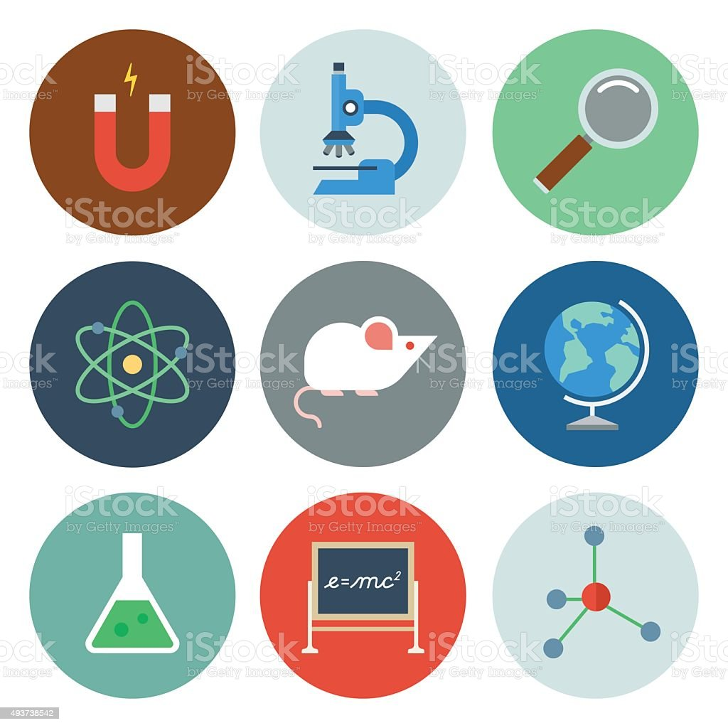 Science Icons — Circle Series vector art illustration