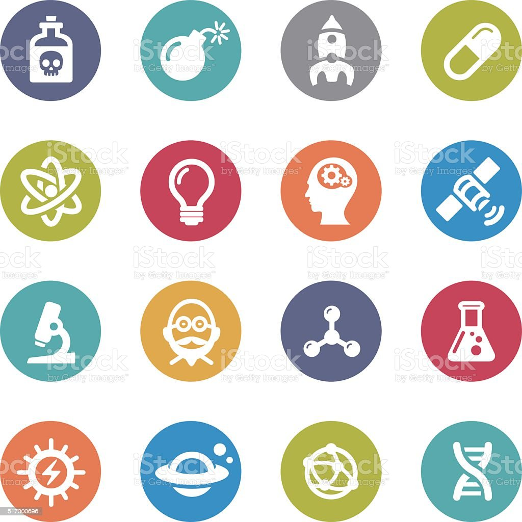 Science Icons - Circle Series vector art illustration