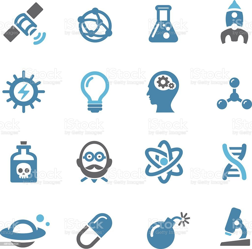 Science Icons - Conc Series vector art illustration