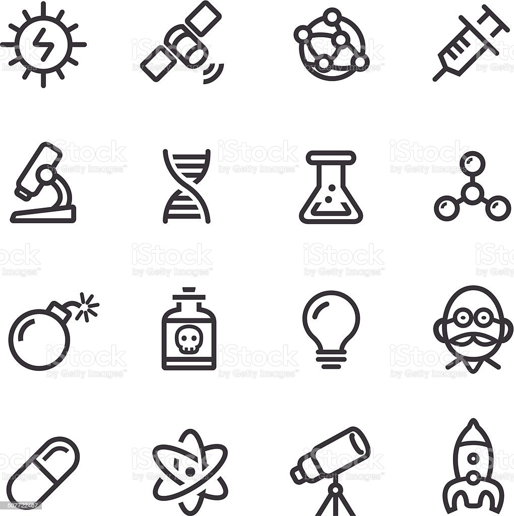 Science Icons - Line Series vector art illustration