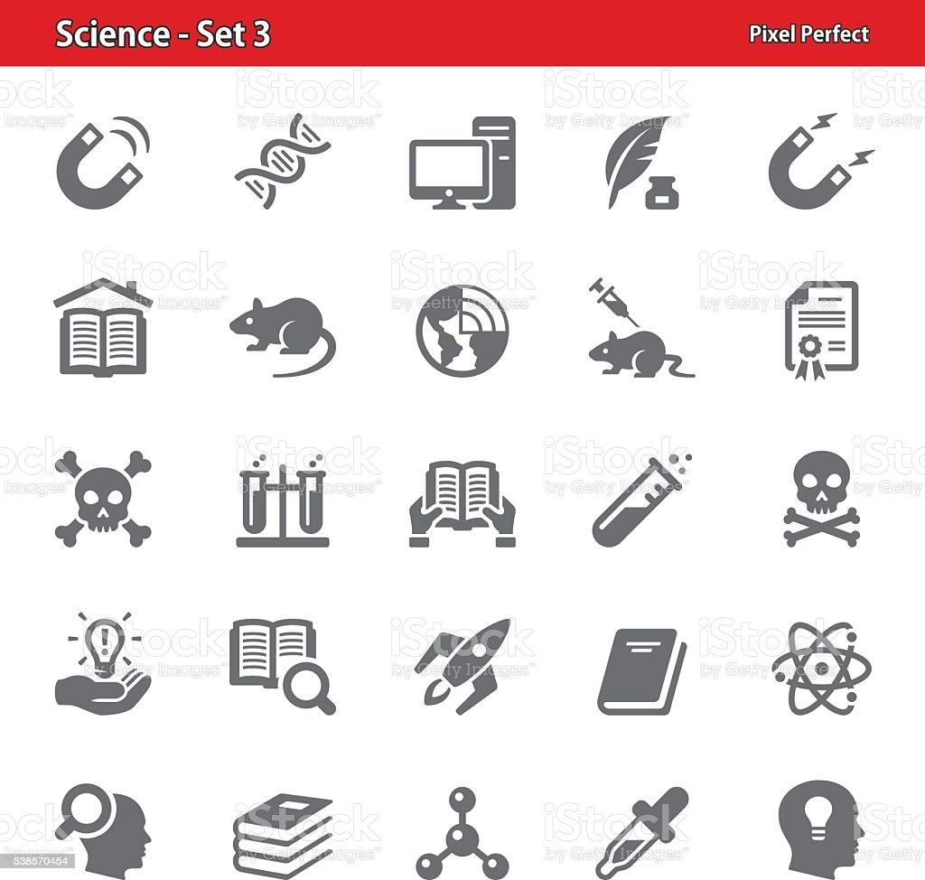 Science Icons - Set 3 vector art illustration
