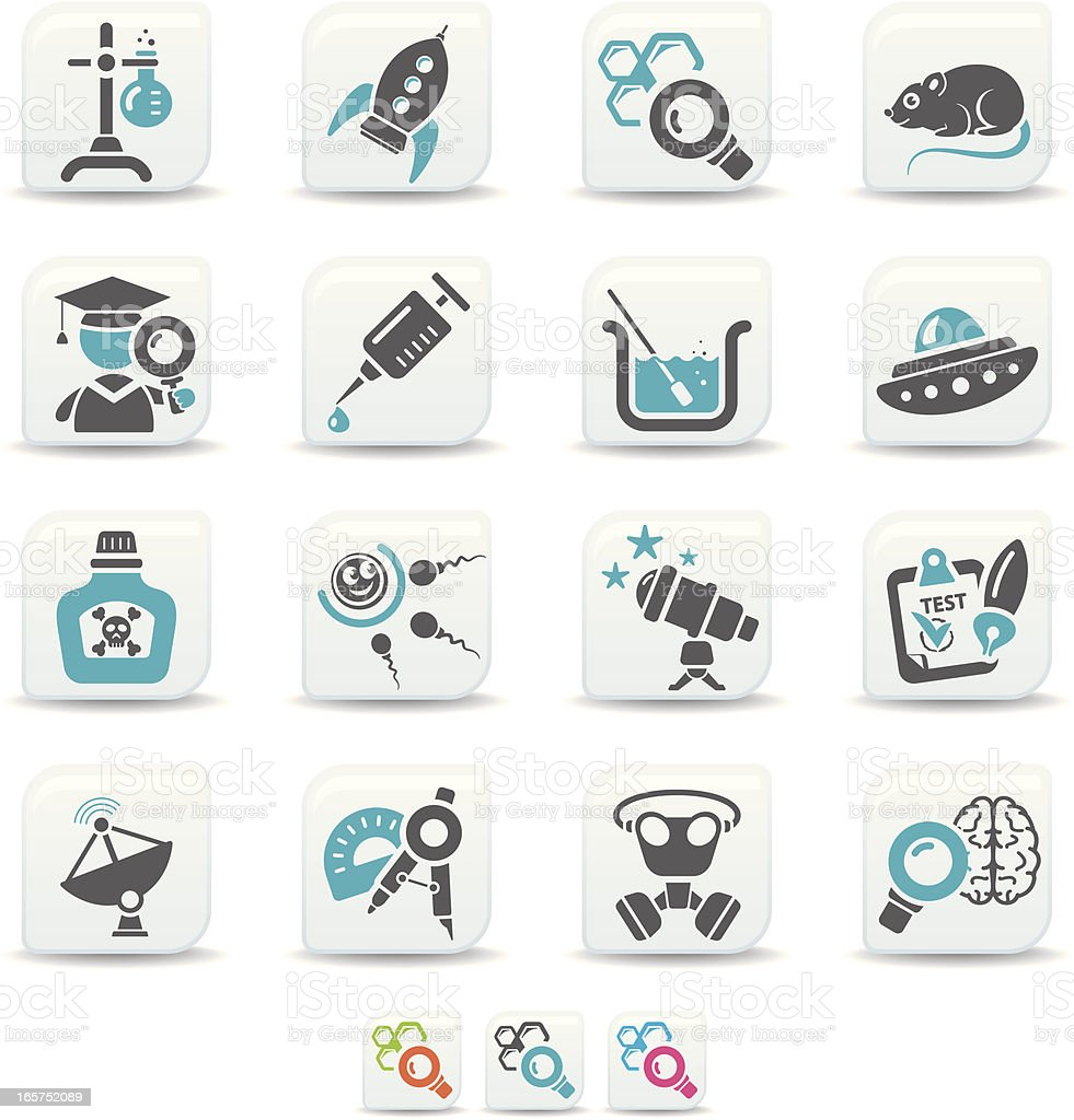science icons | simicoso collection royalty-free stock vector art