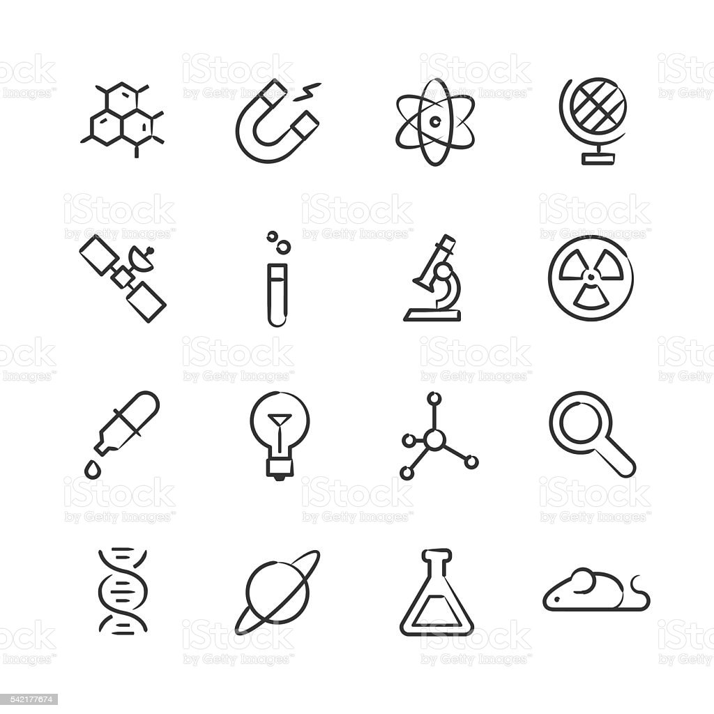 Science Icons — Sketchy Series vector art illustration