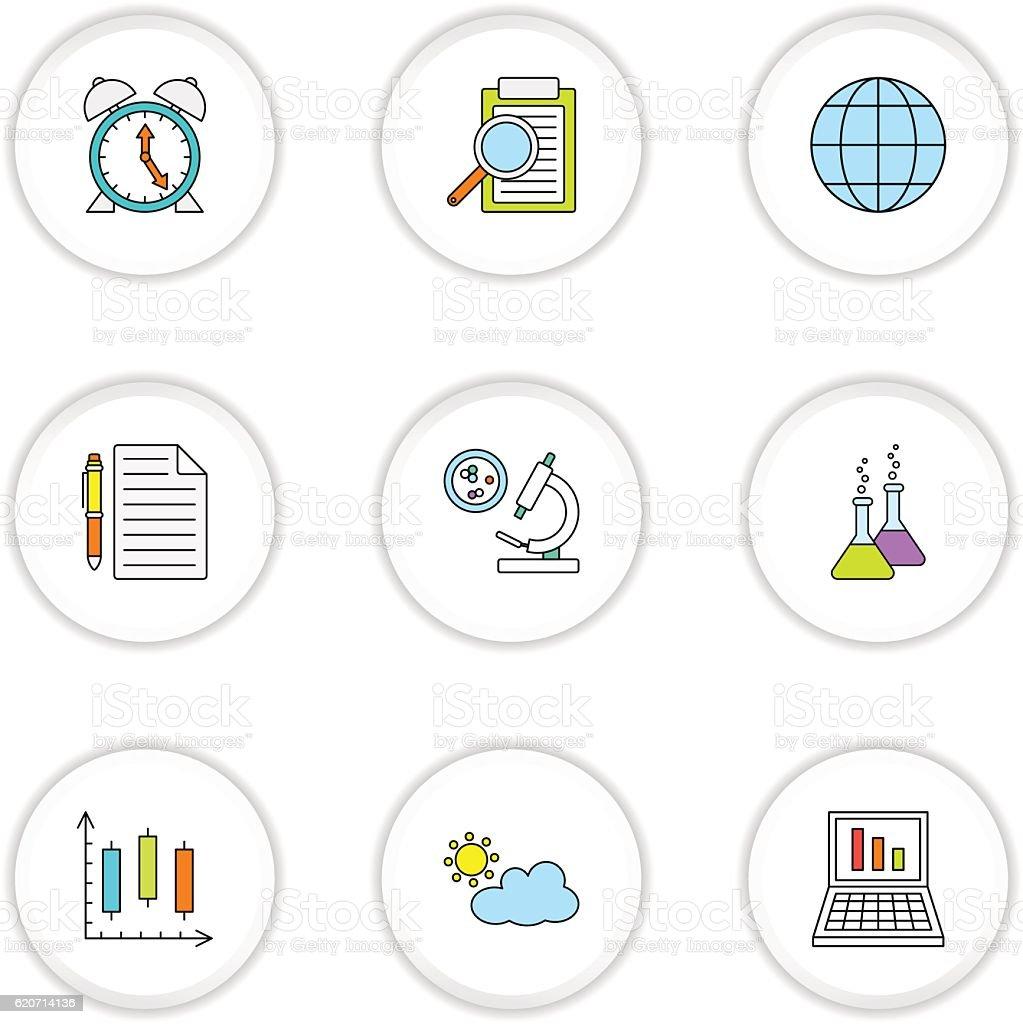 Science icons  stock vecteur libres de droits libre de droits
