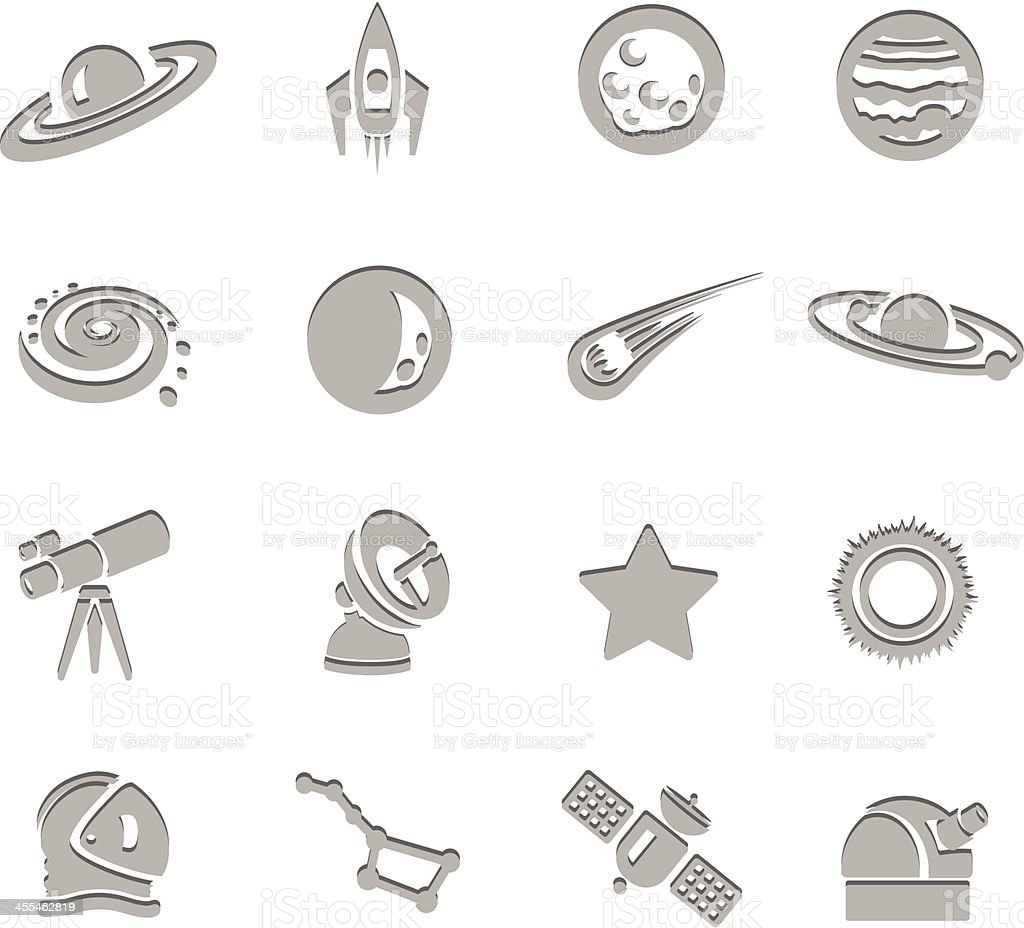 Science Imprint Icons royalty-free stock vector art