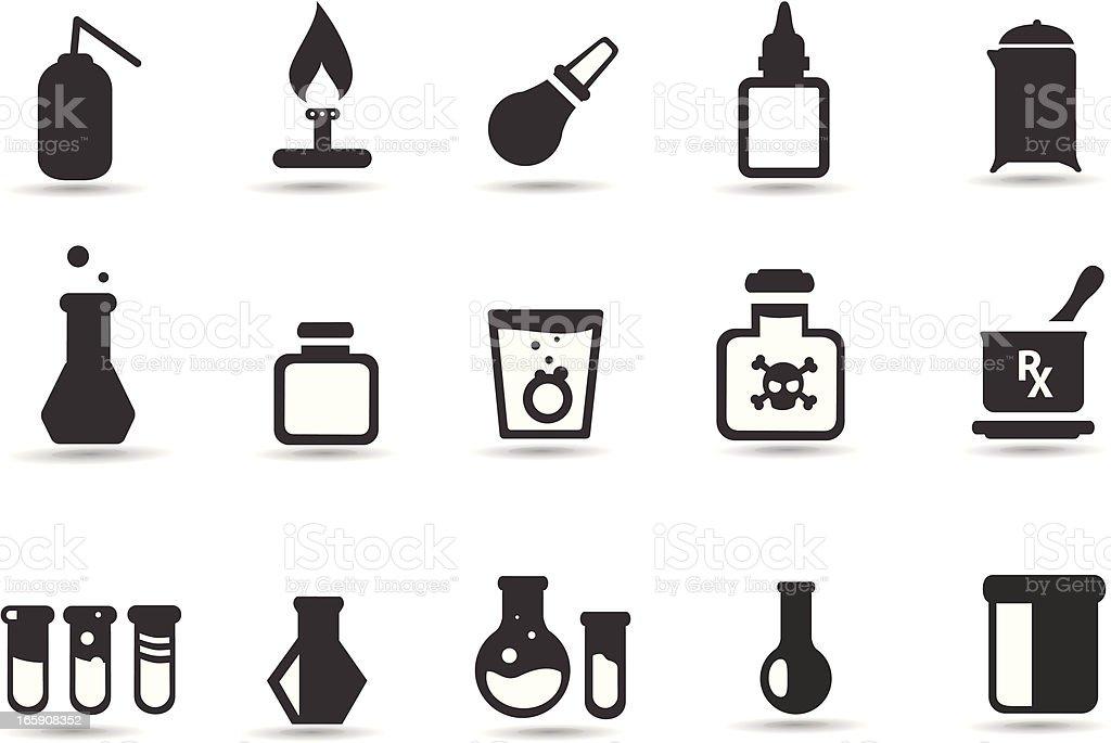 Science Lab equipment vector art illustration
