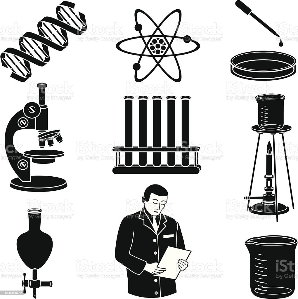 science laboratory royalty-free stock vector art