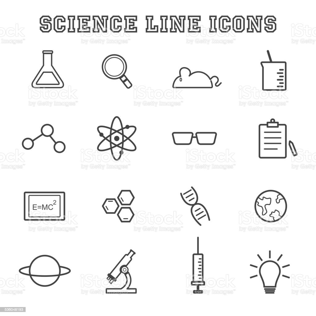science line icons vector art illustration