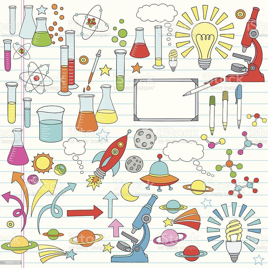 Science Notebook Doodles Vector Illustration vector art illustration