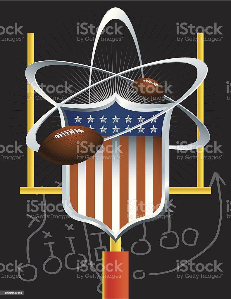 Science of Football vector art illustration