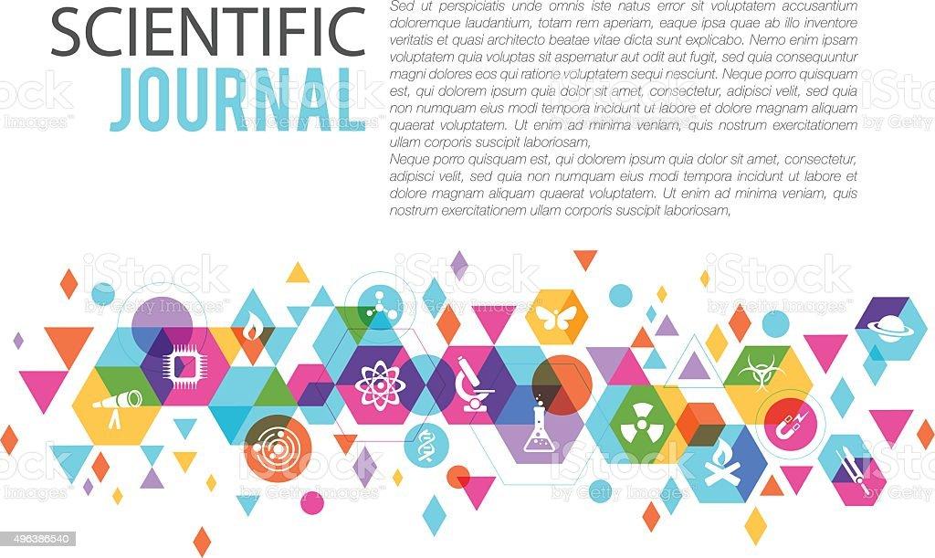 Science page design vector art illustration