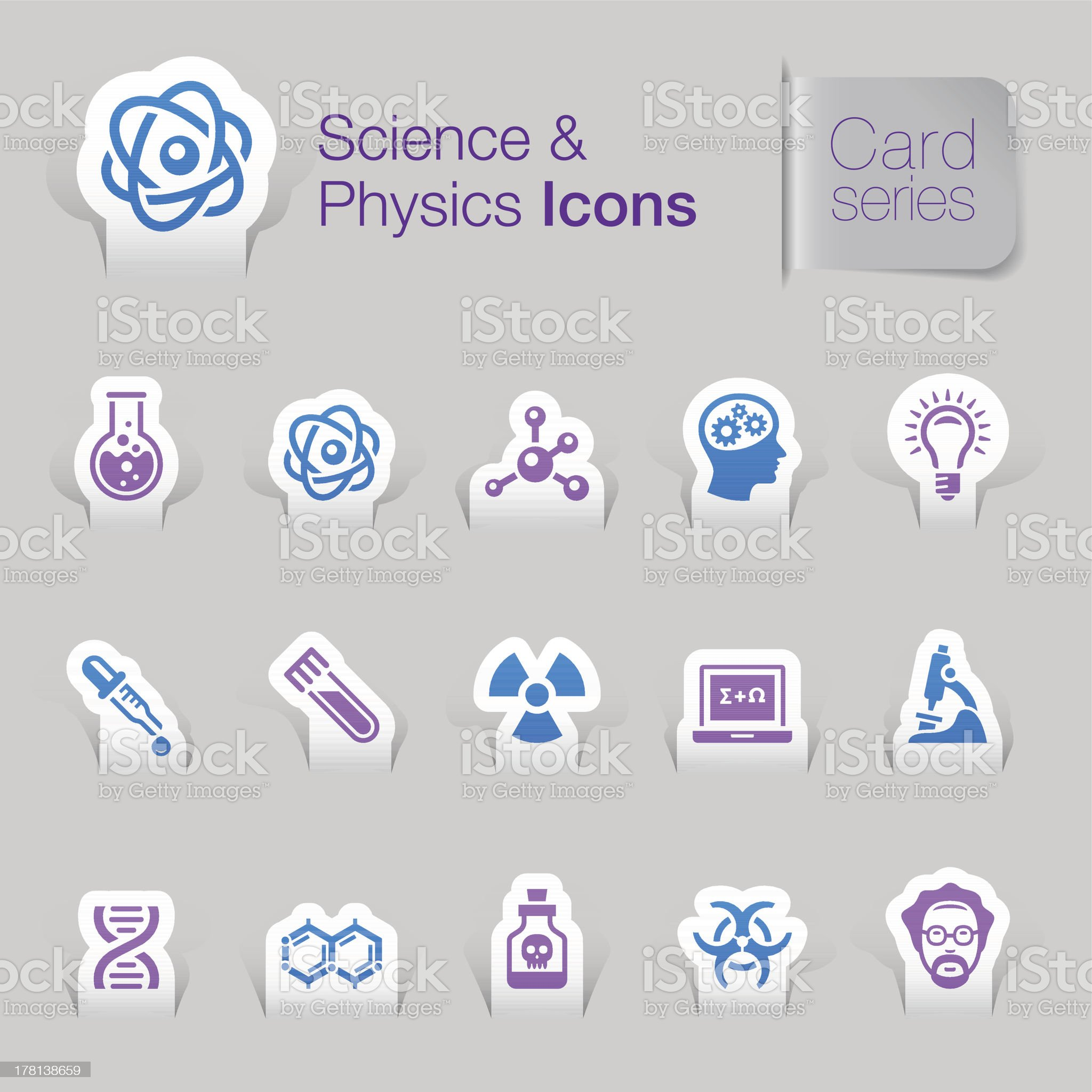 Science & Physics Related Icons royalty-free stock vector art
