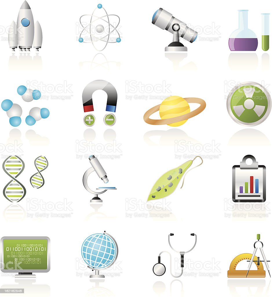 Science, Research and Education Icons royalty-free stock vector art