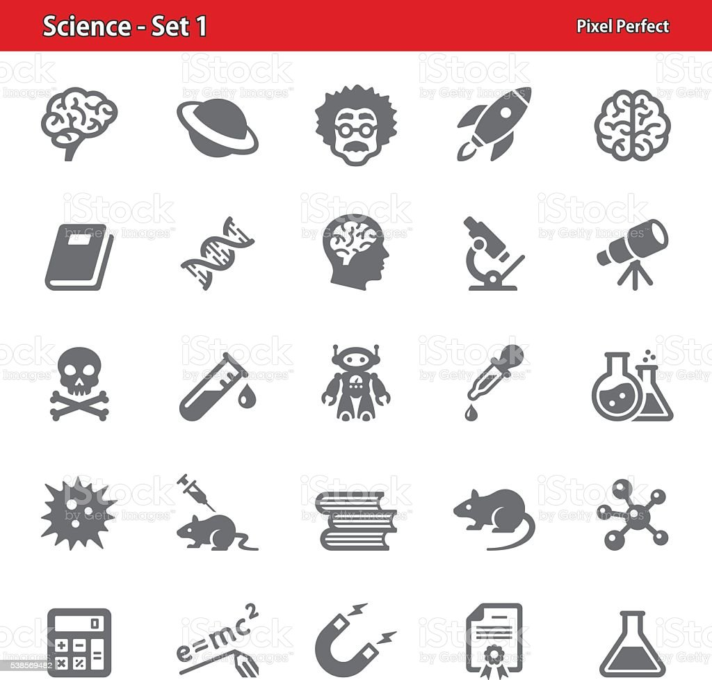 Science - Set 1 vector art illustration