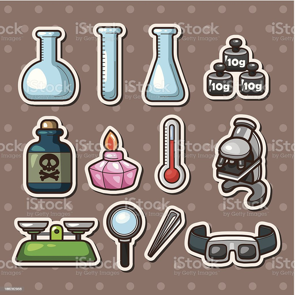Science stickers royalty-free stock vector art