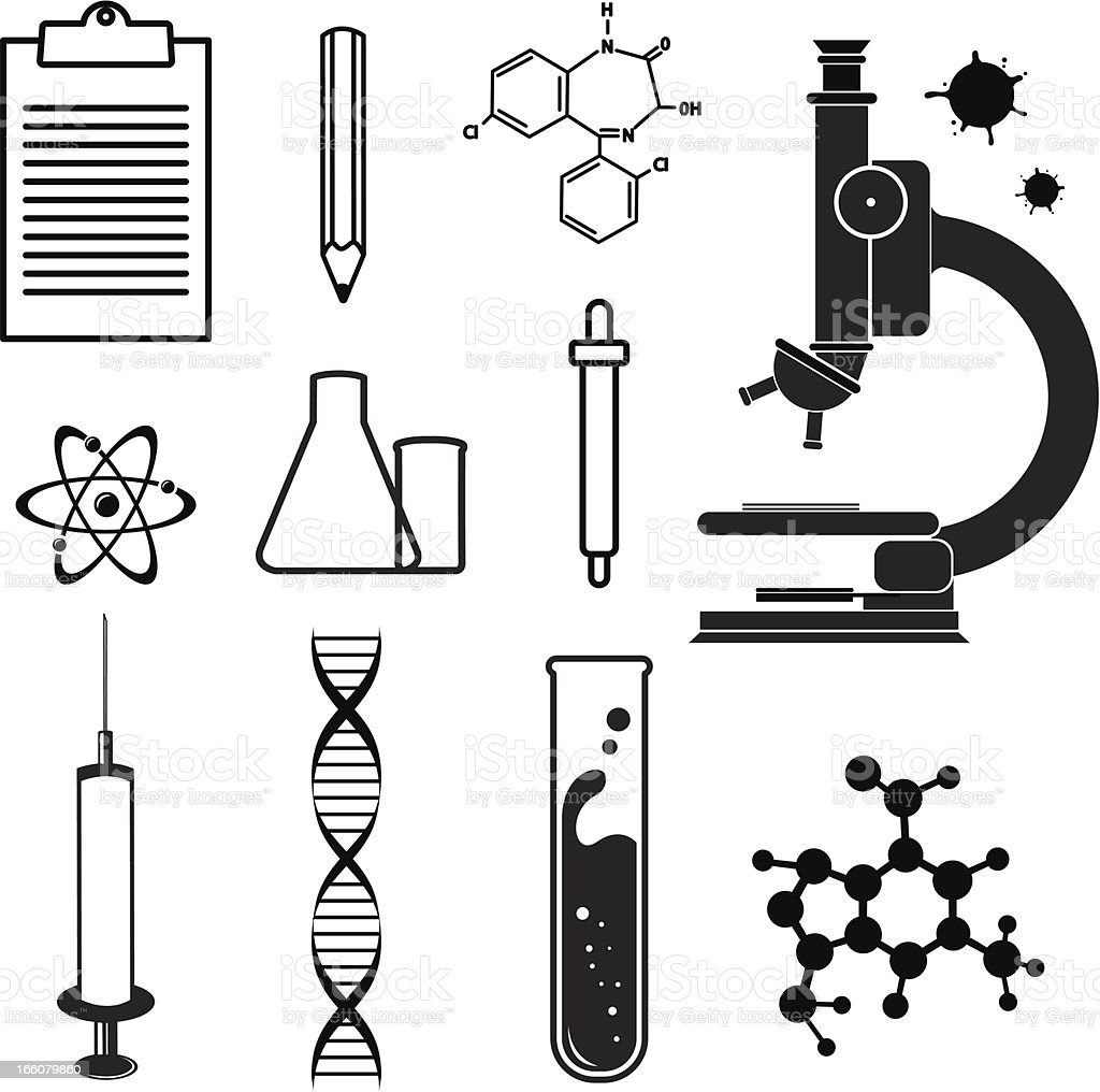 Science symbols royalty-free stock vector art