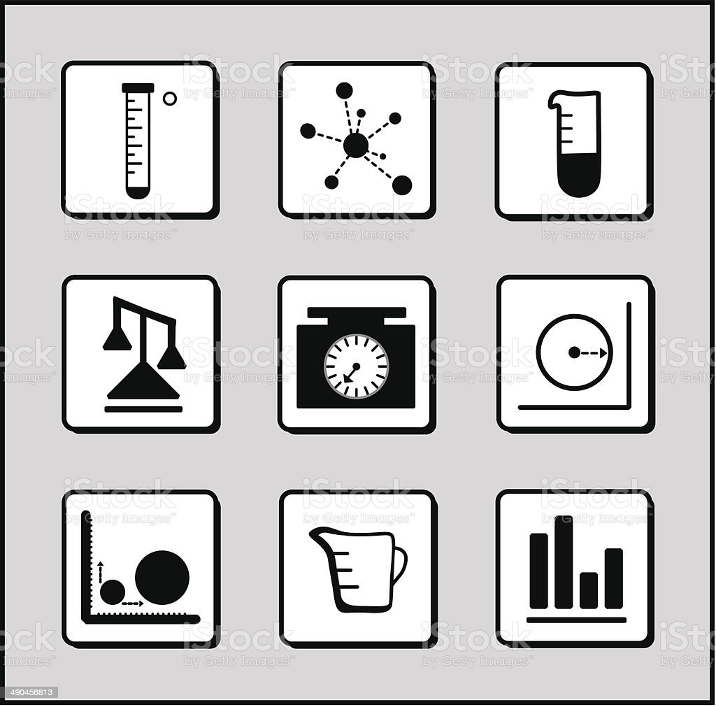 Science-Chemistry-Mathematics Icons royalty-free stock vector art
