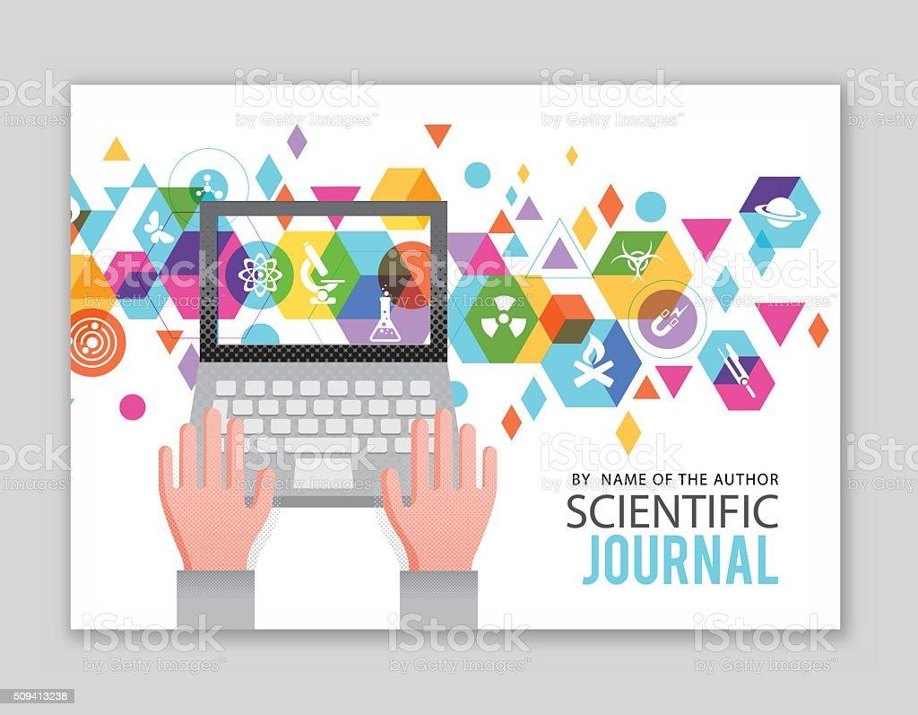 Scientific Journal design vector art illustration