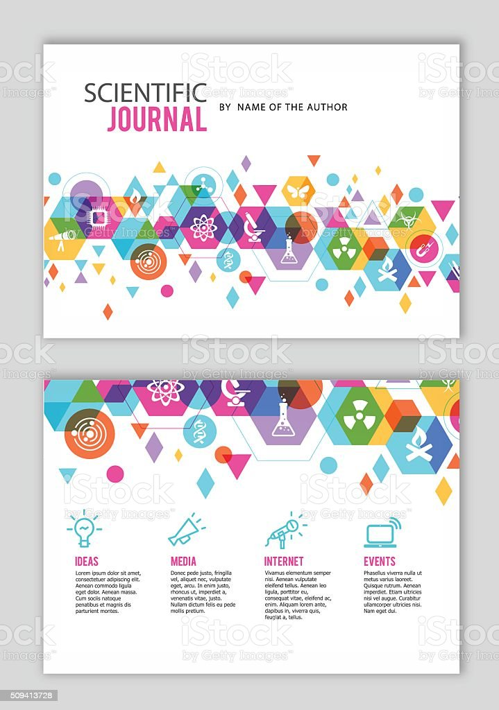Scientific Journal design vector art illustration