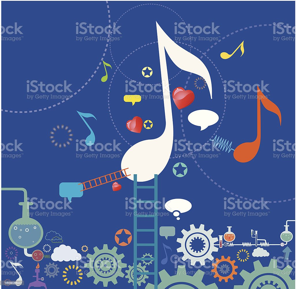 Scientific Music royalty-free stock vector art