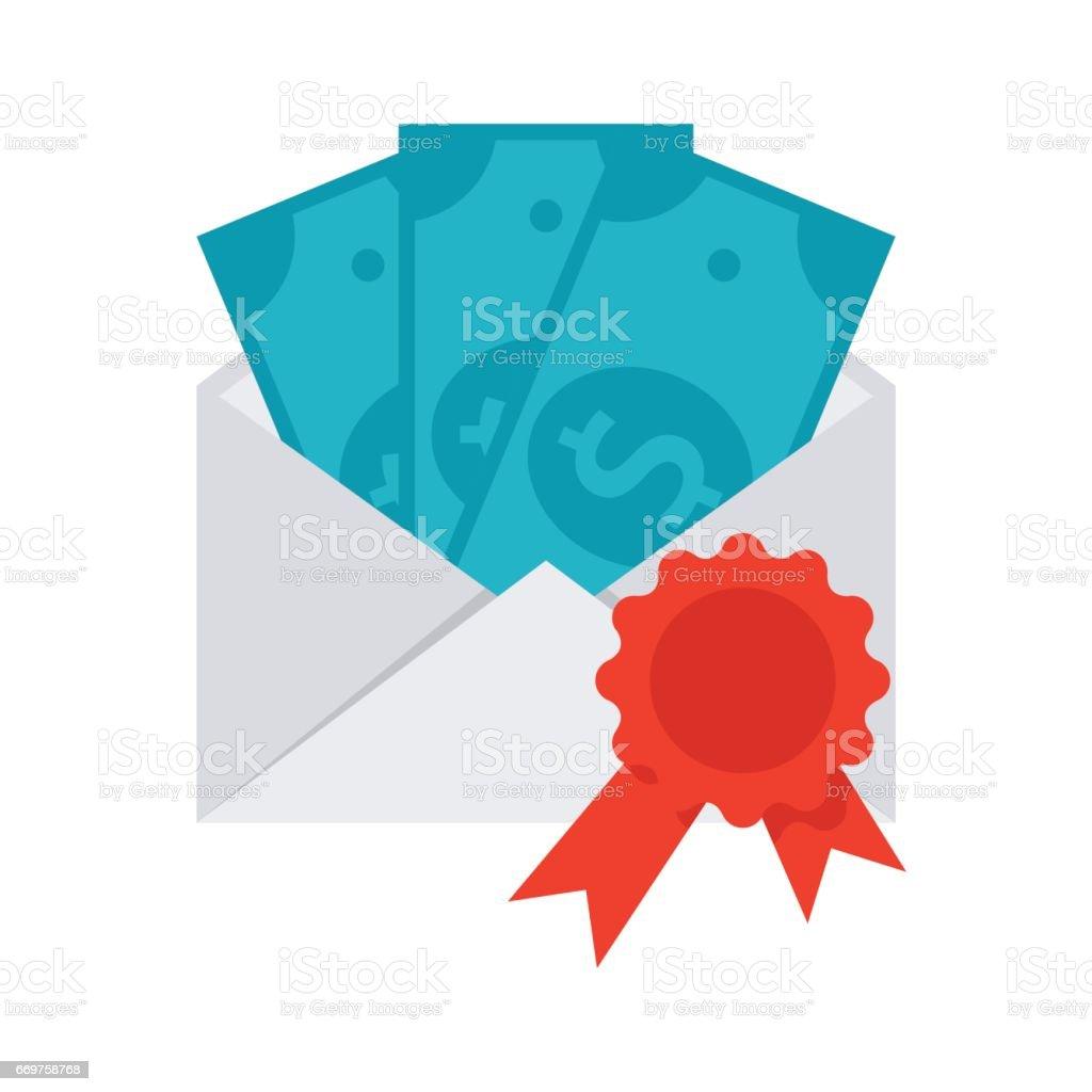 Scientific Prize or Grant Vector Icon vector art illustration