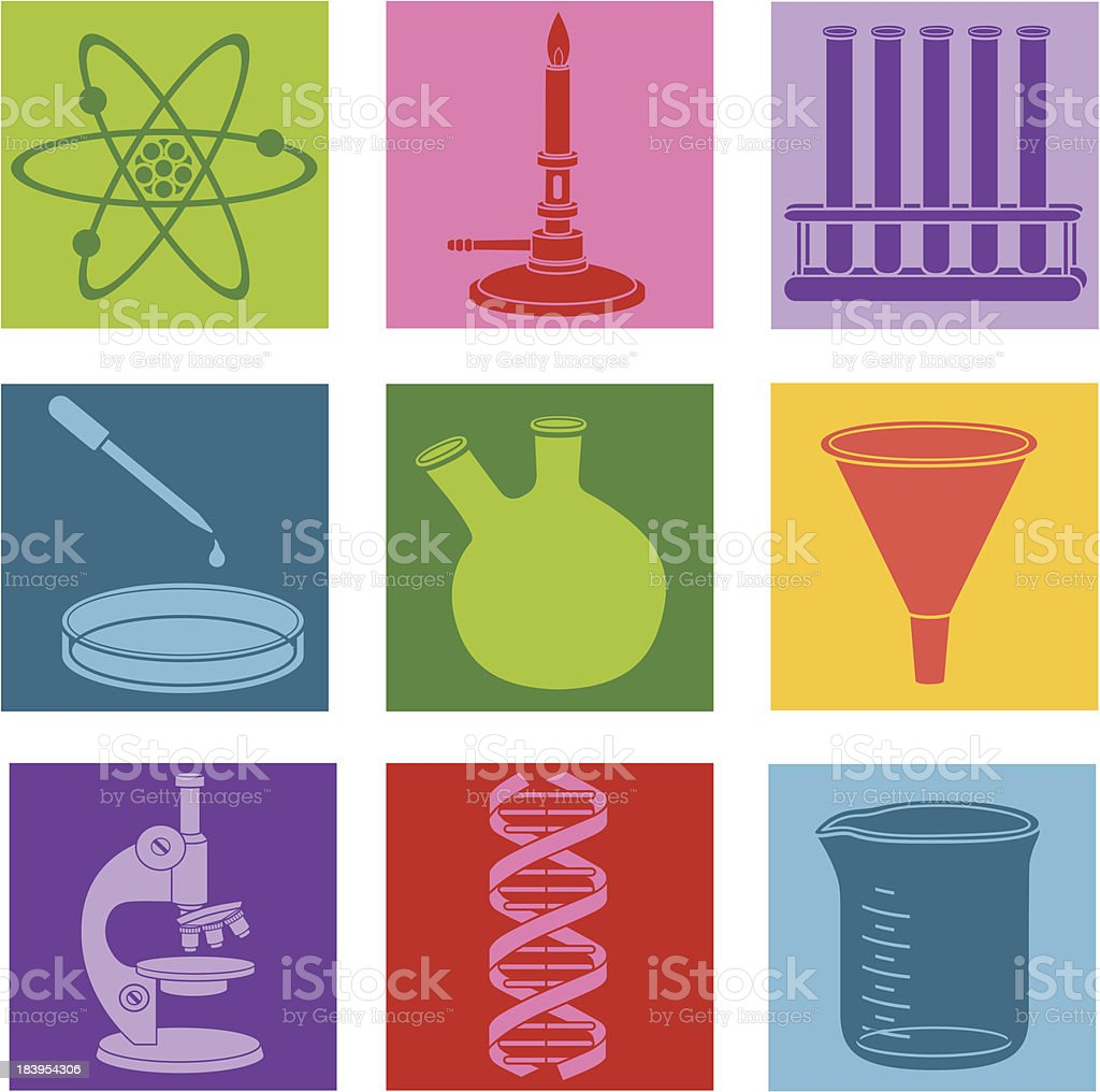 scientific research icons royalty-free stock vector art