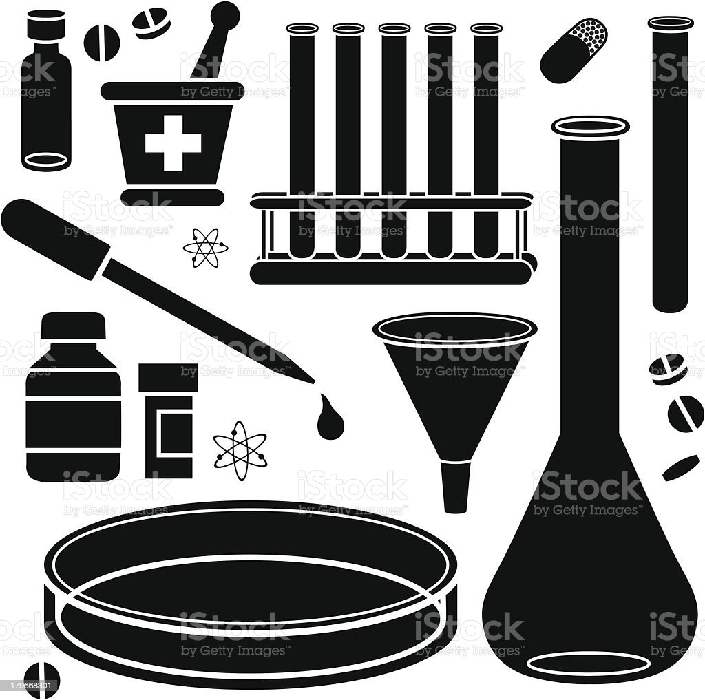 scientific research vector art illustration