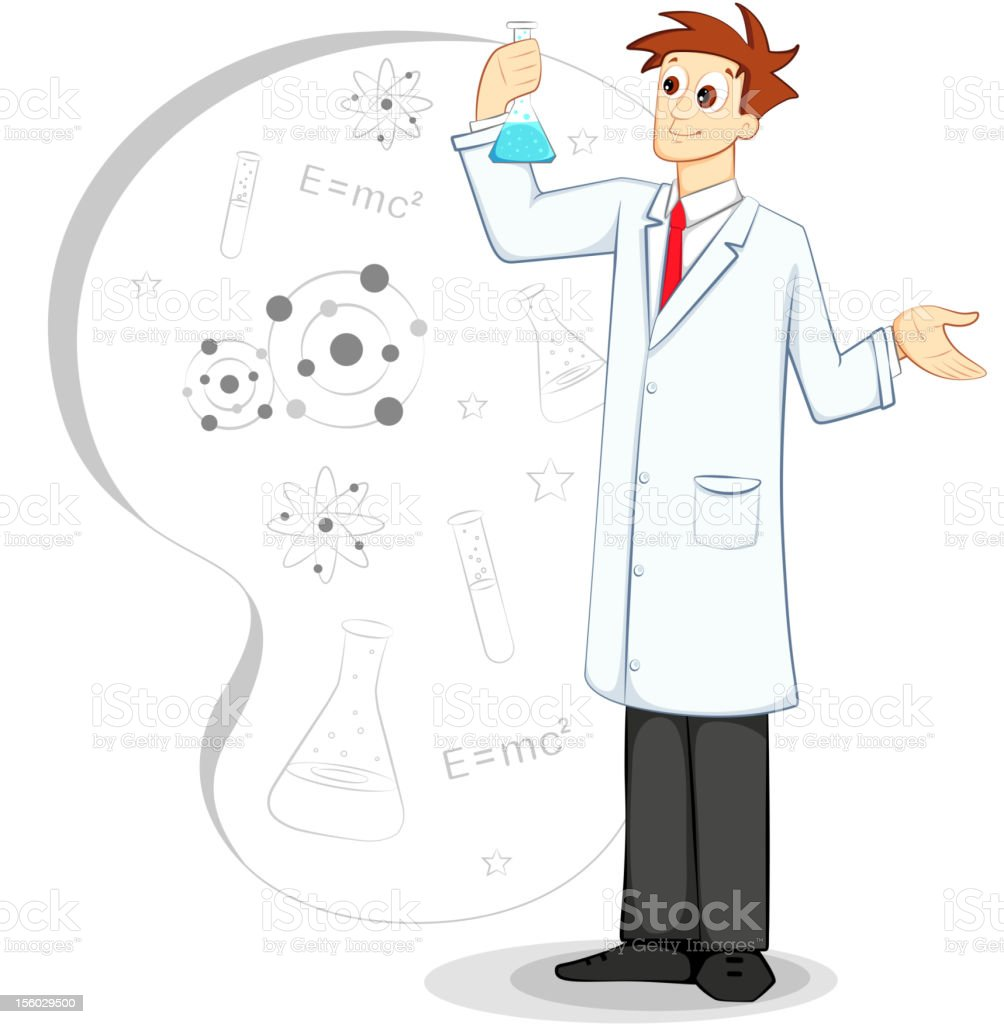 Scientist in Lab royalty-free stock vector art