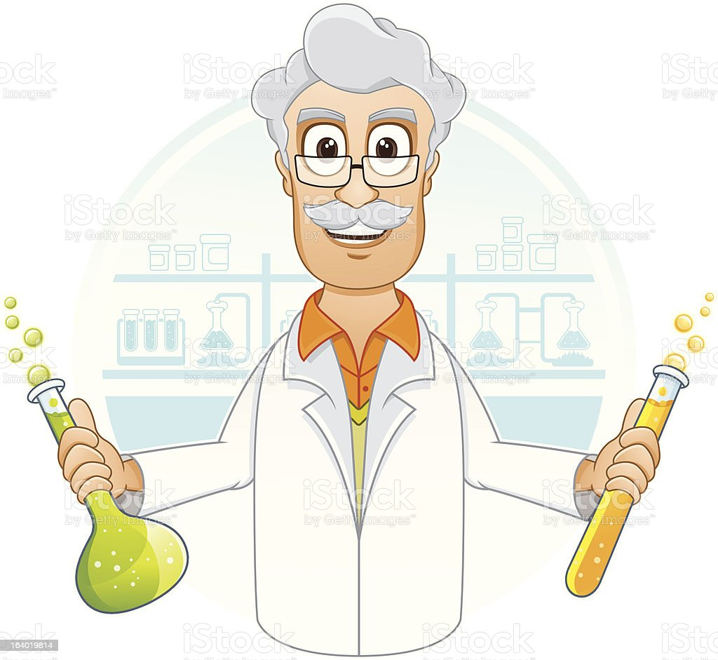 Scientist in laboratory royalty-free stock vector art