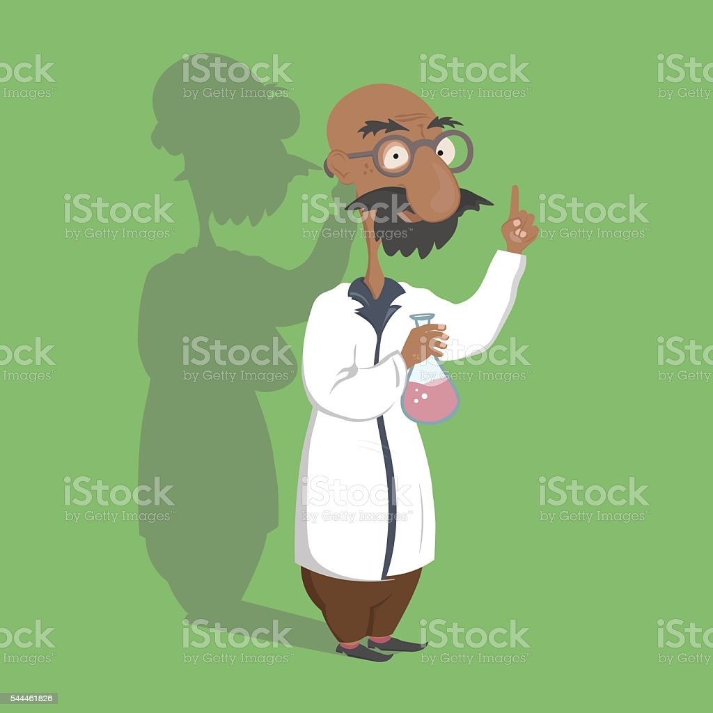 Scientist makes reseach vector art illustration