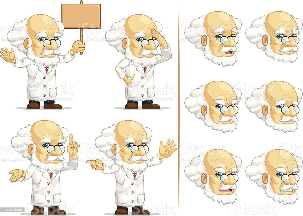 Scientist or Professor Customizable Mascot 8 royalty-free stock vector art