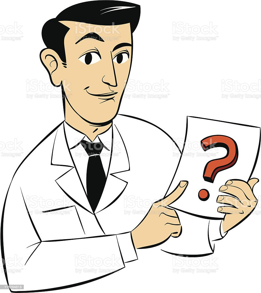 Pics photos clip art cartoon scientist with question mark stock - Question Mark Color Image Document Human Body Part Human Finger Scientist Royalty Free Stock Vector Art