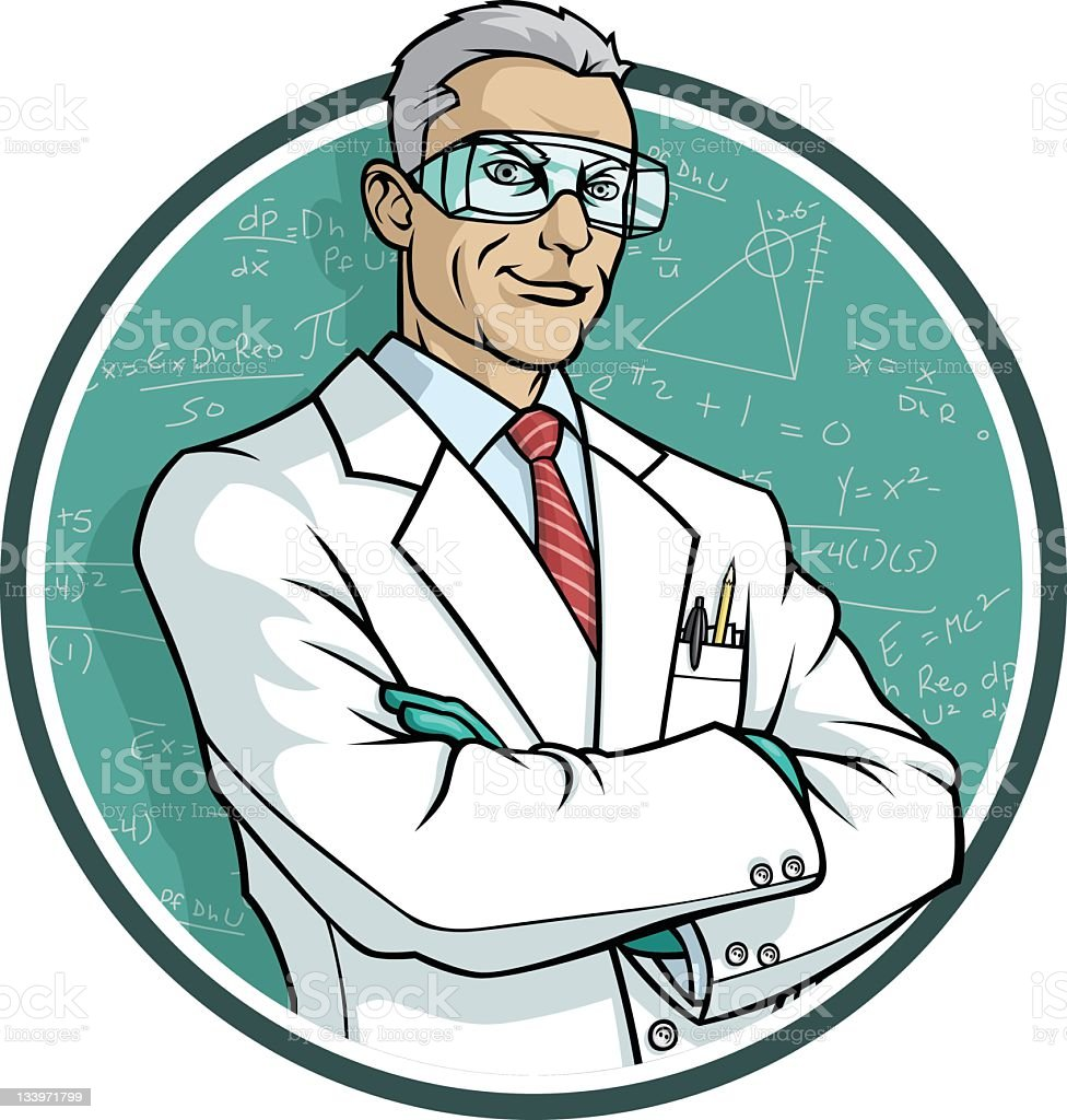 Scientist royalty-free stock vector art