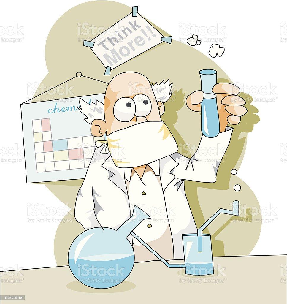 scientist  vector art illustration