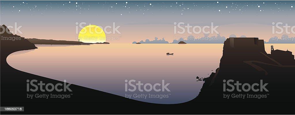 Scilla & Cariddi vector art illustration