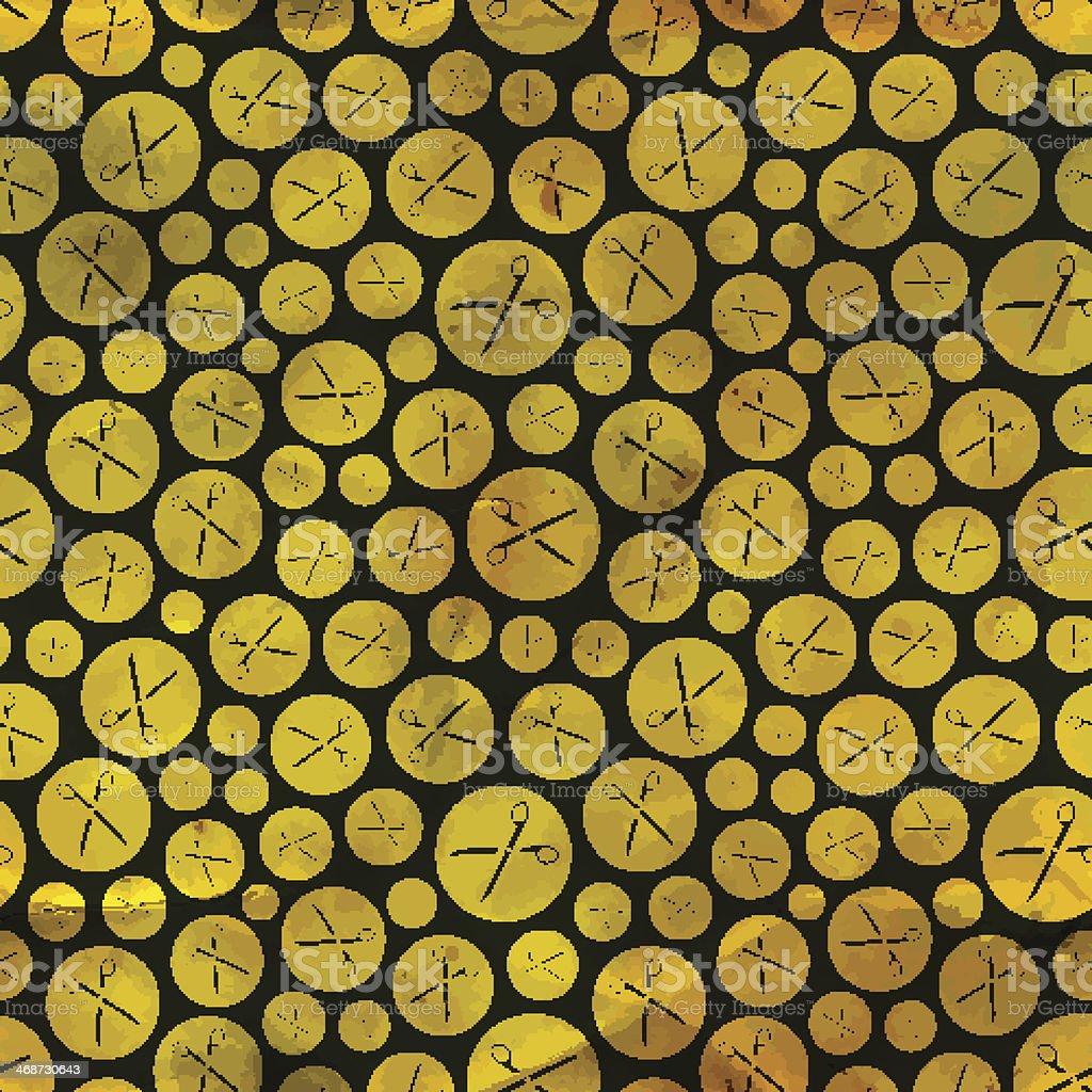 Scissors. Seamless pattern. vector art illustration
