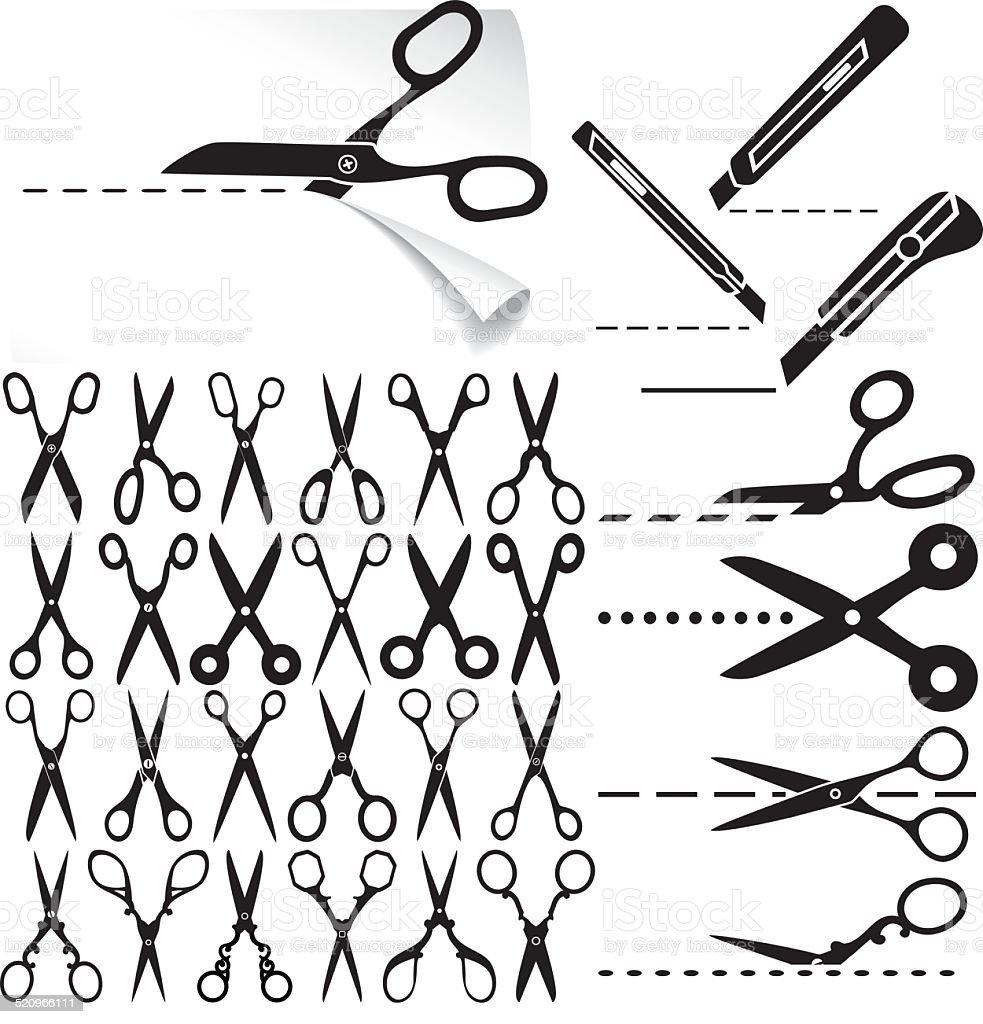 Scissors vector art illustration