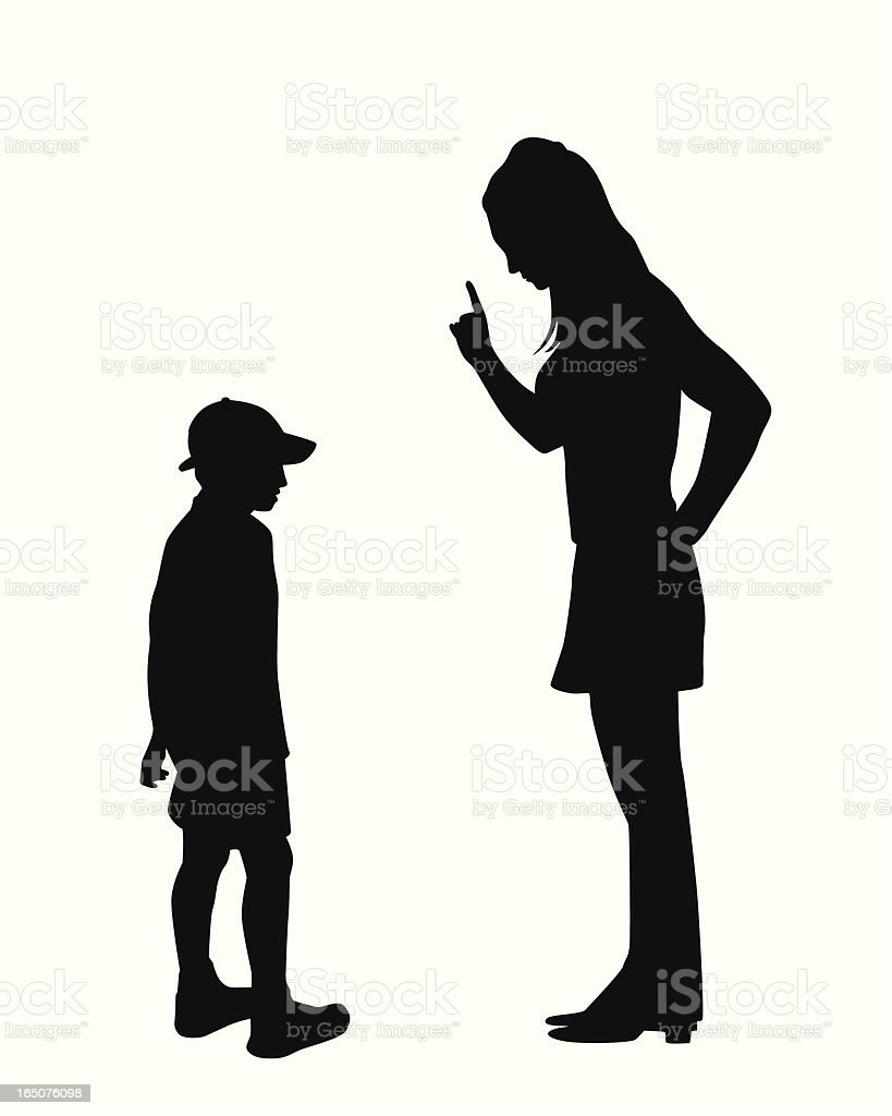 Scolding Vector Silhouette royalty-free stock vector art