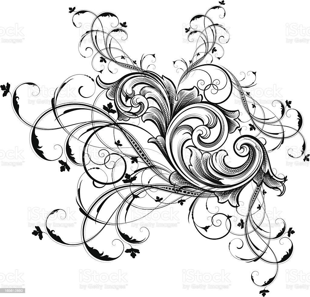 Scoll Entanglement royalty-free stock vector art