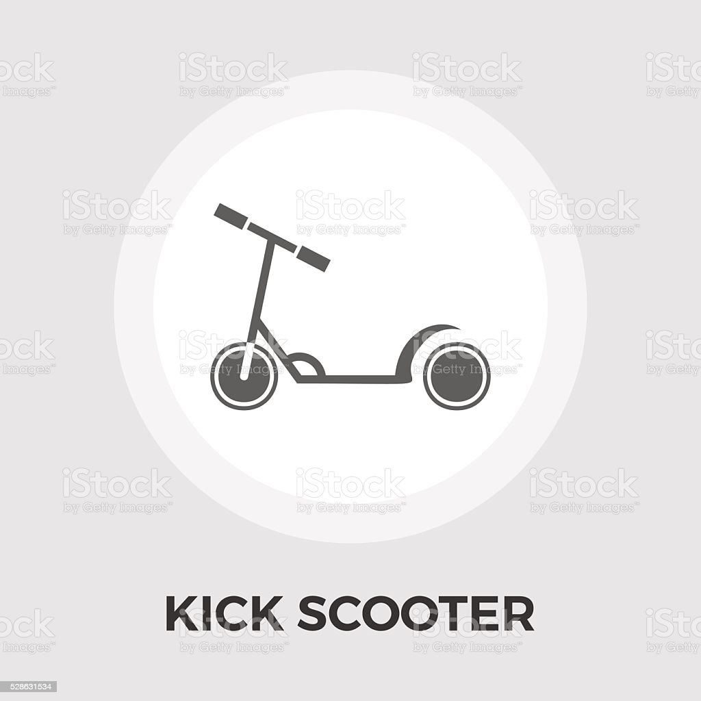 Scooter child vector flat icon vector art illustration