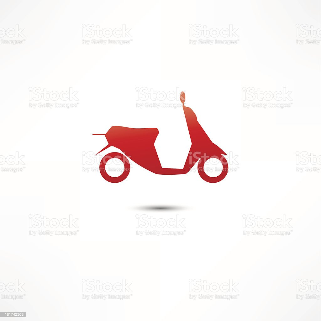 scooter icon royalty-free stock vector art